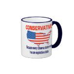 Conservative - Anti Obama Ringer Coffee Mug