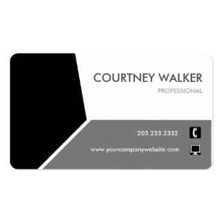 Conservative black customize-able business card