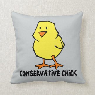 Conservative Chick Throw Pillow