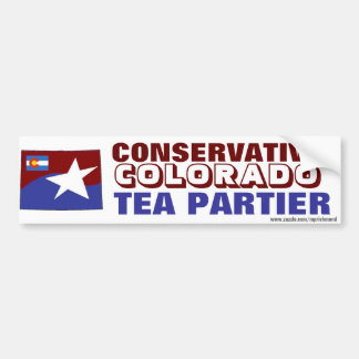 Conservative ColoradoTea Partier Bumper Sticker