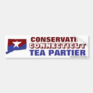Conservative Connecticut Tea Partier Bumper Sticker