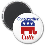 Conservative Cutie Fridge Magnets