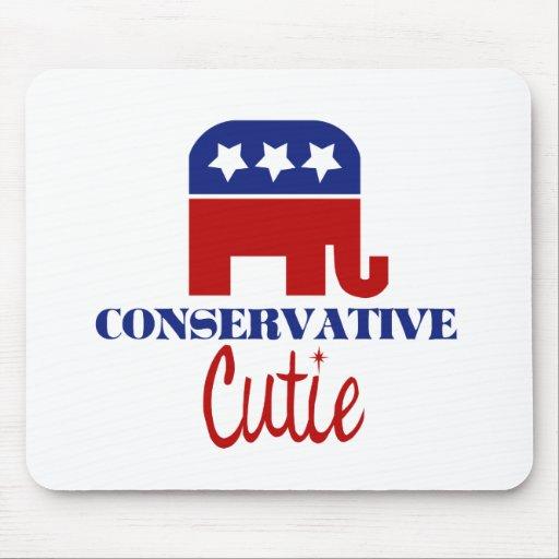 Conservative Cutie Mouse Pad