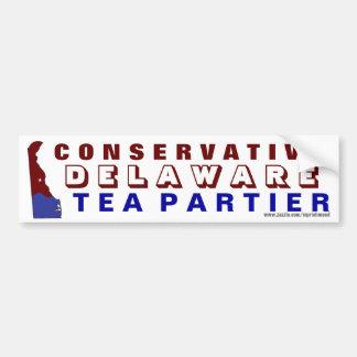 Conservative Delaware Tea Partier Bumper Sticker