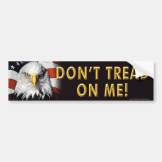 "Conservative ""Don't Tread On Me"" bumper sticker"