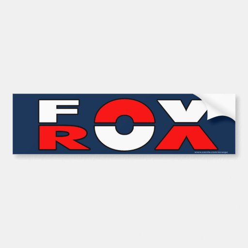 "Conservative ""Fox Rox"" bumper sticker"