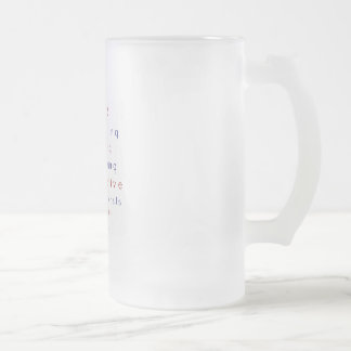 CONSERVATIVE FROSTED GLASS BEER MUG