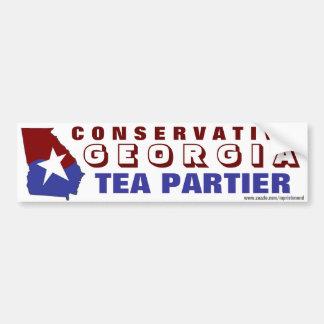 Conservative Georgia Tea Partier Car Bumper Sticker