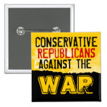 Conservative GOP against the War Button Pins