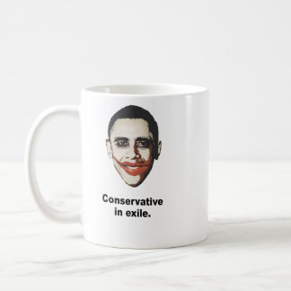 Conservative in exile coffee mug
