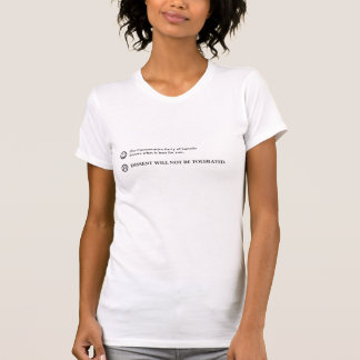 Conservative instructions women's t-shirt
