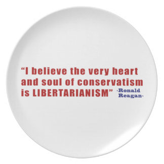 Conservative Libertarian Quote by President Reagan Plate