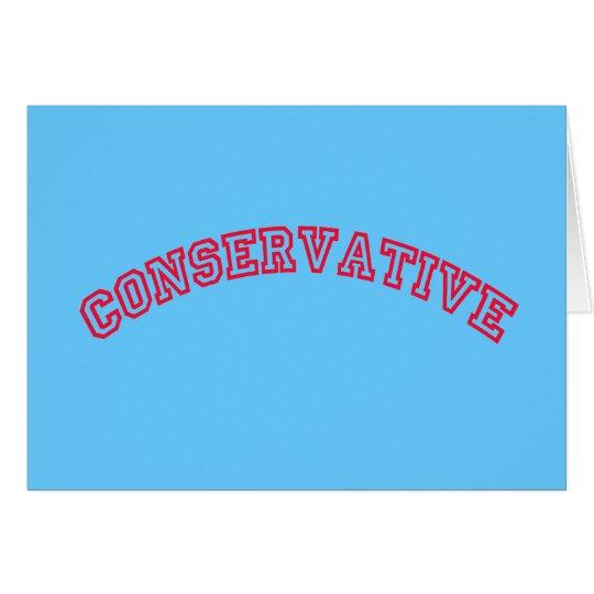 Conservative Logo Card