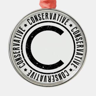 Conservative Metal Ornament