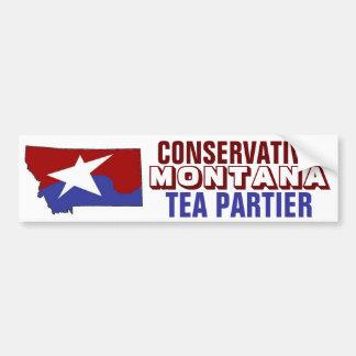 Conservative Montana Tea Partier Car Bumper Sticker