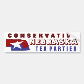 Conservative Nebraska Tea Partier Car Bumper Sticker