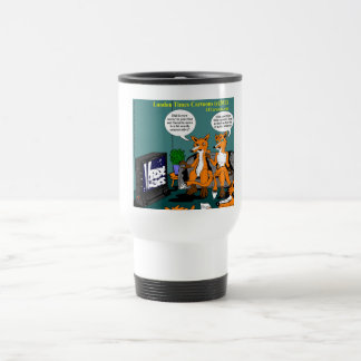Conservative News Funny Cartoon Travel Mug