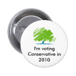 conservative_party_logo, I'm voting Conservativ... 2 Inch Round Button