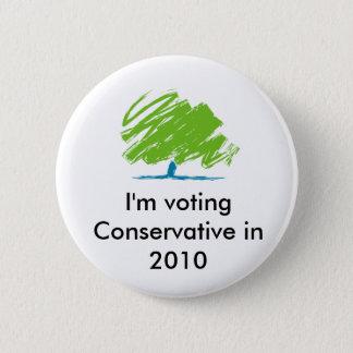 conservative_party_logo, I'm voting Conservativ... Pinback Button