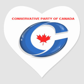 Conservative Party of Canada Political Merchandise Heart Sticker