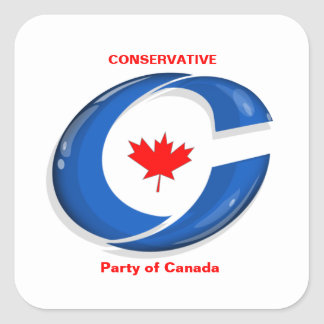 Conservative Party of Canada Political Merchandise Square Sticker