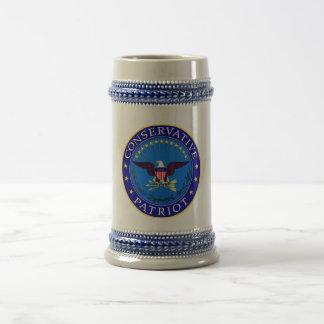 Conservative Patriot Beer Stein