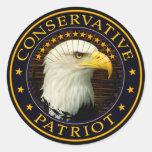 Conservative Patriot Classic Round Sticker