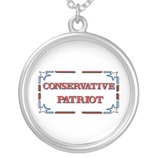 Conservative Patriot Silver Plated Necklace