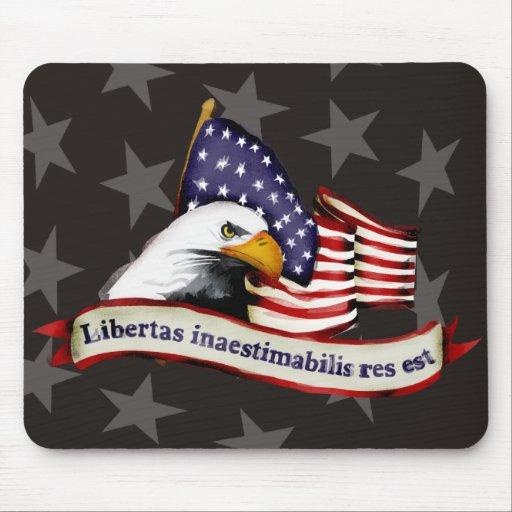 conservative patriotic liberty eagle flag latin mousepads