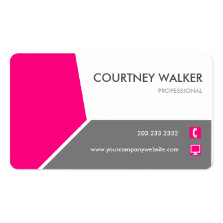 Conservative pink customize-able business cards