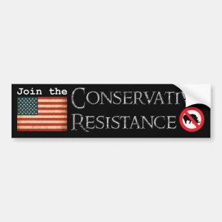 Conservative Resistance Car Bumper Sticker