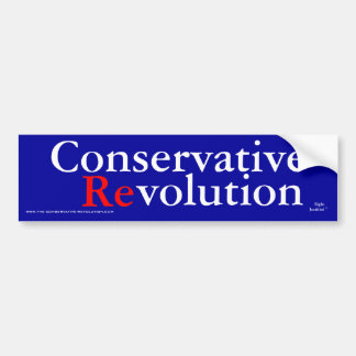 Conservative Revolution 2009 Bumper Sticker