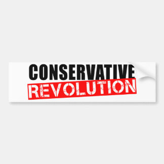 Conservative Revolution Car Bumper Sticker
