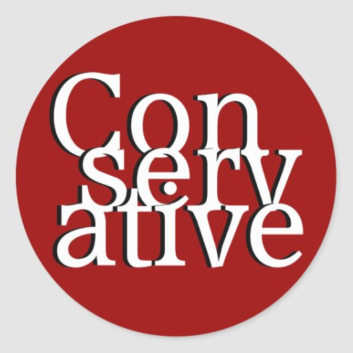 Conservative Round Stickers