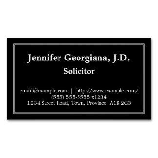 Conservative Solicitor Magnetic Business Card