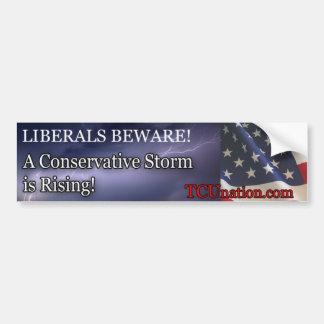 Conservative Storm Rising 1 Car Bumper Sticker
