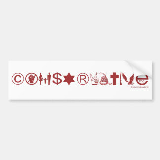 Conservative Symbol Bumper Sticker
