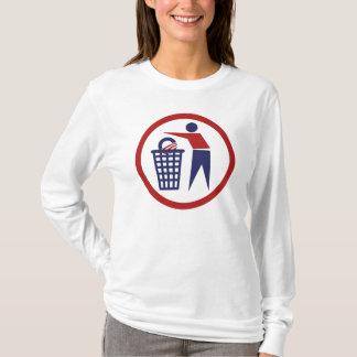 Conservative Tea Party Throw Away Obama T-Shirt