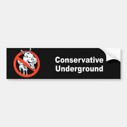 Conservative Undergound Car Bumper Sticker