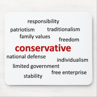 Conservative values and philosophy mouse pad