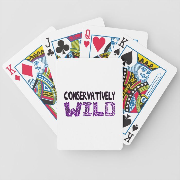 Conservatively Wild Bicycle Playing Cards