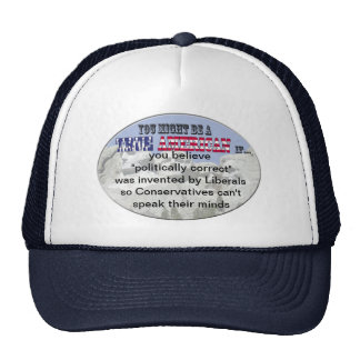 conservatives and liberals trucker hat