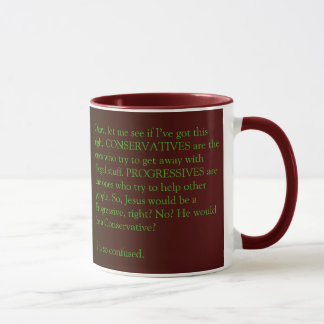 Conservatives and Progressives mug