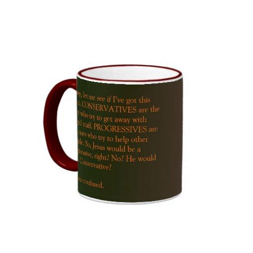 Conservatives and Progressives mug
