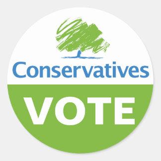 Conservatives My Vote Classic Round Sticker