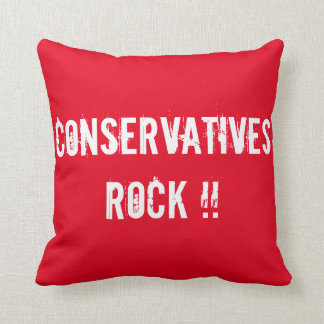 Conservatives ROCK !!   Liberals RULE !! Throw Pillow