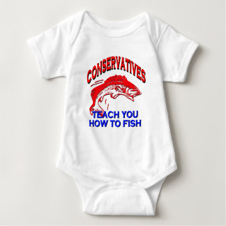 Conservatives Teach You To Fish Baby Bodysuit