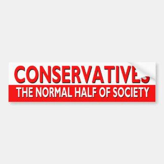 Conservatives - The Normal Half of Society Car Bumper Sticker