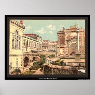 Conservatoire, Marseilles, France print