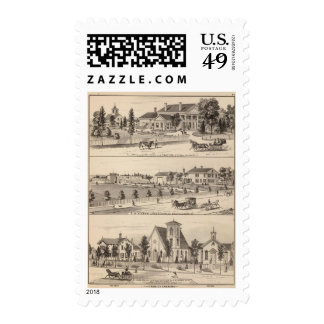 conservatories and school postage stamp